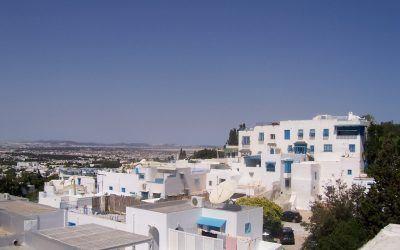 Голубой город в Тунисе
