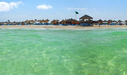 Пляж на острове Джерба, отдых в Тунисе