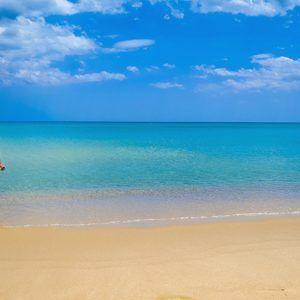 Пляж в Ясмин Хаммамет, популярном курорте Туниса